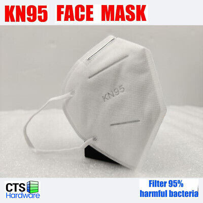 50Pcs TUV certified KN95 Face Mask BFE > 95%  (5-Layer Not N95) Respirator
