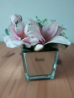 Peony Qvc Faux Pom Pink Hydrangeas And Greenery Ferns Bouquet Flower Display 25 00 Picclick Uk