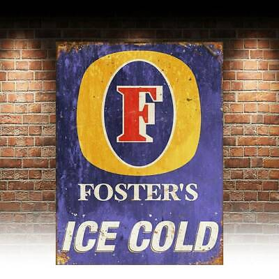 Foster/'s Lager Australian Beer Fosters Tin Sign Bar Vintage Advertising Style