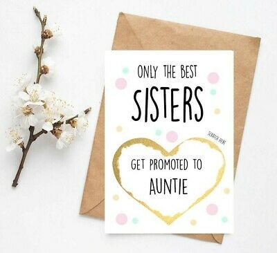 Pregnancy announcement card friends get promoted to auntie reveal scratch PA31