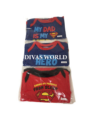 Primark Kids Superman Printed T shirts Boys Pack of 3 Top Brand NEW WITH TAGS