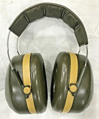 BRITISH ARMY SURPLUS ISSUE GREEN PELTOR PROTECTIVE EAR DEFENDERS H10A,SHOOTING
