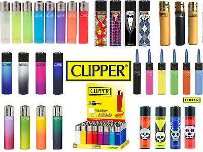 4 x Clipper Lighters RARE Gas Refillable Set    100% Genuine   Wide Variety New