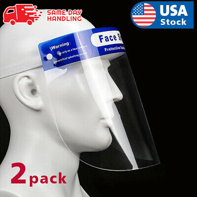 2PACK Safety Full Face Shield Reusable Washable Protection Cover Face Mask  US