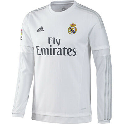ADIDAS REAL MADRID Long Sleeve Home Jersey 2015/16 - $79.99   PicClick
