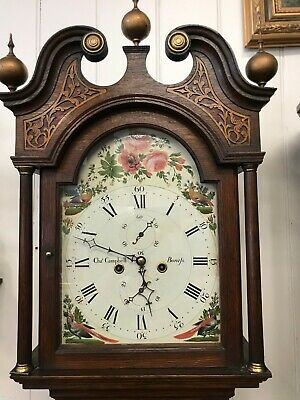100% Restored Charles Campbell 8 day Geo111 Arched ,Paint Dial Grandfather clock
