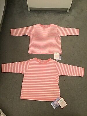 AGE 18-24m BNWT M/&S PACK OF 2 LONG SLEEVE VESTS IN PURE COTTON