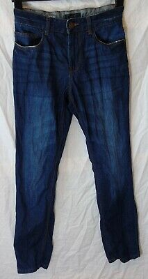 Boys Next Dark Blue Whiskered Denim Adjustable Waist Skinny Jeans Age 13 Years