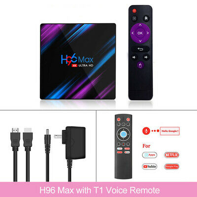 H96Max Smart Box Multimédia Androïd 9.0 Voice Remote RK331 4K 2/4GB 16/32/64GB