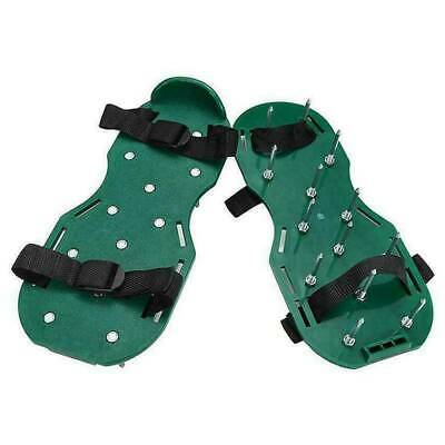 Garden Lawn Aerator Spiked Strapped Sandal Shoe Pair Fits All Heavy Duty