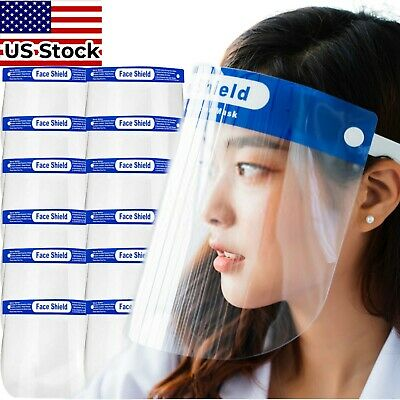 *USA STOCK* Full Face Shield - Safety Reusable Washable Protection Anti-Splash