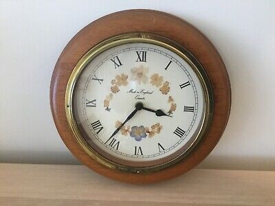 Vintage Wall Clock Working With New Battery And Spare. Made In England