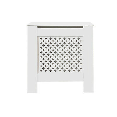 Radiator Cover White Painted Traditional Cabinet MDF Wood Furniture Grill Modern
