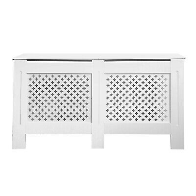 White Radiator Cabinet Cover Furniture Slatted MDF Wood Traditional Grill Shelf
