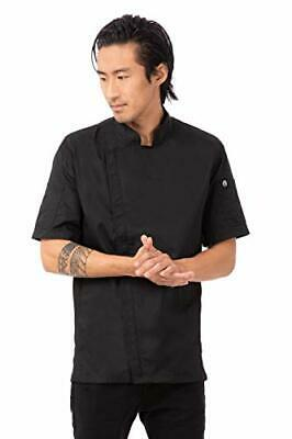 Chef Works Men's Springfield Chef Coat, Black, X-Large