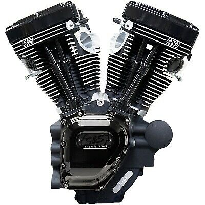S&S 310-0837A T143 Long-Block Engine 143ci 10.47:1 Harley Touring 07-16