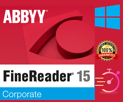 ABBYY FineReader 15 Corporate ✔OCR PDF EDITOR Scanner Converter ✔Latest Version