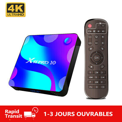 Android 10.0 TV Box X88PRO10 RK3318 4K 2.4G/5G Wifi BT 4.0 Multimédia X88 PRO 10
