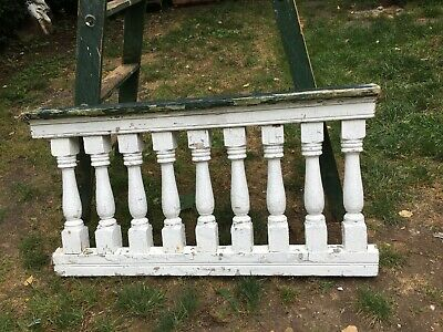 Antique Turned Balustrade Spindle Porch Rail Architectural Salvage 43in Long Sec