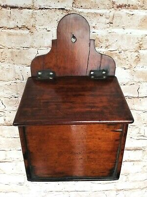 Early 19th century georgian mahogany hanging salt box