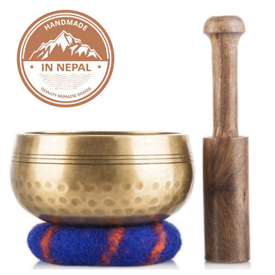 Tibetan Singing Bowl Meditation Sound Bowl SET Handcrafted in Nepal Healing