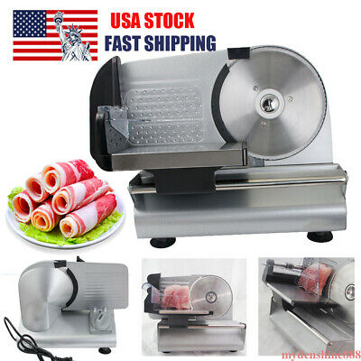 """Commercial 7.5"""" Blade Electric Meat Slicer Cheese Deli Food Cutter Kitchen Home"""