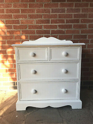 Victorian Style, Painted, Solid Wood Chest Of Drawers