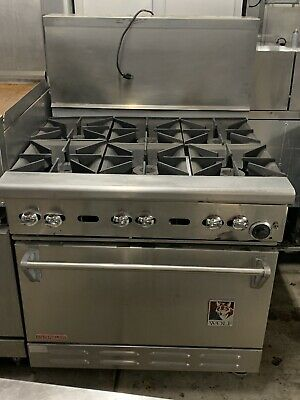 Wolf 6 Burner Range With Convection Oven Commercial