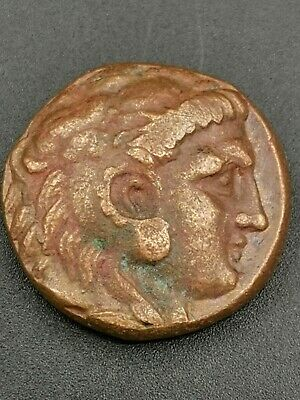 Macedonia, ancient, Alexander the Great rare copper coin 336-323 bc