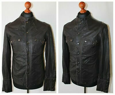 ALL SAINTS LEATHER Rock Shirt £79.99
