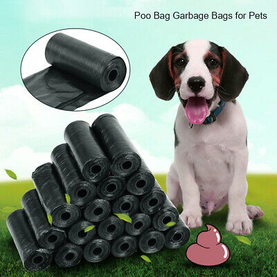 60pcs (4 rolls) Dog Poop Bags Biodegradable Pet Cat Puppy Poo Waste Bags