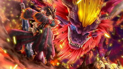 """049 Monster Hunter - Moster Fight TV Game 42""""x24"""" Poster"""
