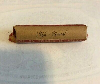 1966 P  Wheat Pennies Lincoln Memorial Cent  Circulated Roll