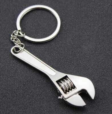 Mini Working Tool Double Heads Wrench Keyring Keychain Alloy Key Ring Chain ~