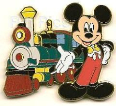 Disney Pin 56429 DLR Booster Disneyland Resort Railroad Train Locomotive Mickey