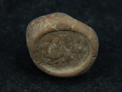 Ancient Teracotta Seal Bactrian C.300 BC #TR879
