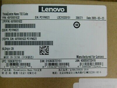 Lenovo Tio Cube - Desktop To Monitor Mounting Kit - For Thinkcentre NEW