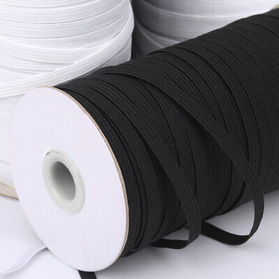 "12YDS White 1/"" Elastic Band Spool Springy DIY Band for Crafting Sewing Pant Wig"