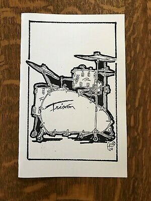note card Ludwig Drums Art work by RobFried from Max Creek