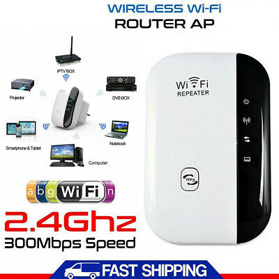 Strong 300Mbps WiFi Wireless Repeater WiFi Range Extender Signal Booster UK PLUG