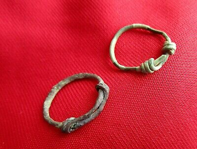 COILED RING'S - Ancient Celtic bronze rings . circa 600-400 BC