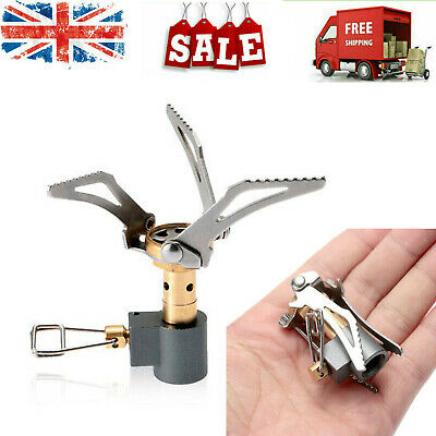 45g Lightweight Mini Pocket Outdoor Cooking Burner Folding Gas Stove 3000W E9D5