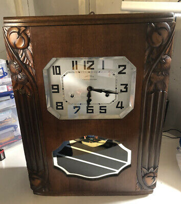Beautiful Art Deco Vintage Antique Westminster Veritable Decorated French Clock*