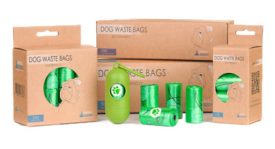 Animal Buddy Dog Waste Bags|Disposable Biodegradable Poop Baggies|No Leaks