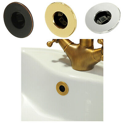 Bathroom Basin faucet Sink Overflow Cover Brass Six-foot Ring Insert Replacem HF