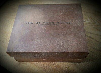 Reproduction 24 Hour Ration Box Single Wwii British Small Pack Display 16 00 Picclick Uk