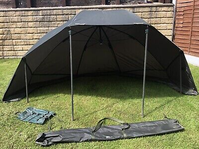 """50/"""" Green Camo Camo Storm Brolly with Sides Umbrella Tent Carp Fishing Tackle"""