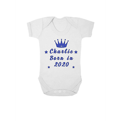 Personalised baby vest,bodysuit,babygrow,Born in 2020 shower gift,name