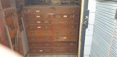 Lovely Old Possibly Victorian Large Chest Of Drawers From Haberdashery Store....