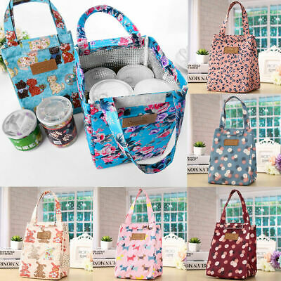 Adult Womens Kids Girls Portable Insulated Lunch Bag Box Picnic Tote Cooler AAA
